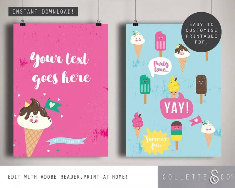Ice Cream Party Printables Collette and Co 14