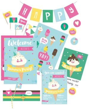 Ice Cream Party Printables Collette and Co 30
