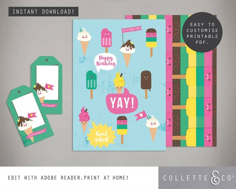 Ice Cream Party Printables Collette and Co 7