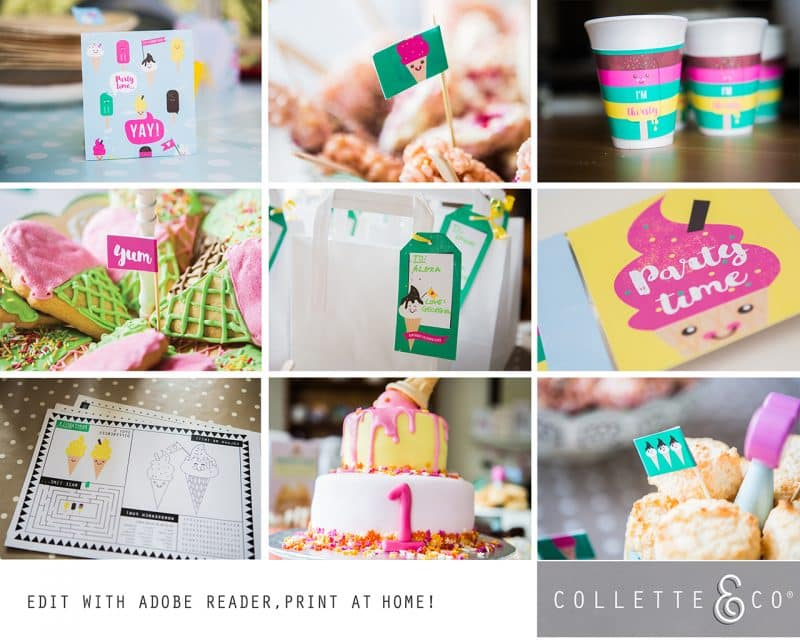 Ice Cream Party Printables Collette and Co 9
