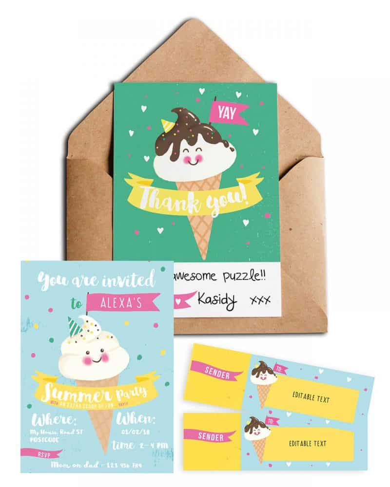 Ice Cream stationery pack Printables Collette and Co 10
