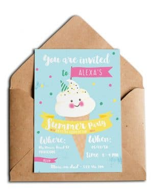 Printable Ice Cream Party Invitation Instant Download Collette and Co 1
