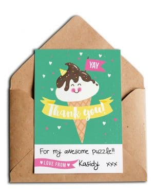 Printable Ice Cream Party Thank You Card Instant Download Collette and Co 4
