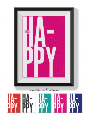 Printable Wall Art Choose Happy Collette and Co 2