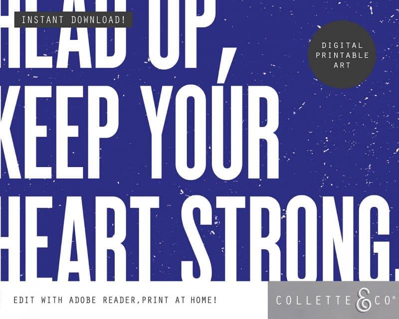 Printable Wall Art Editable Song Lyrics Blue Collette and Co 3