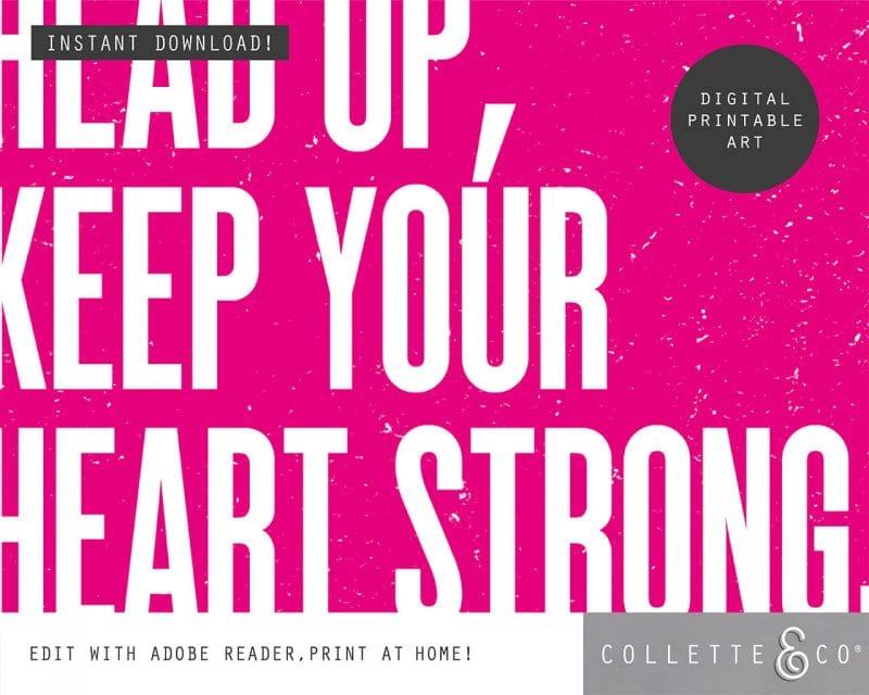 Printable Wall Art Editable Song Lyrics Pink Collette and Co 3
