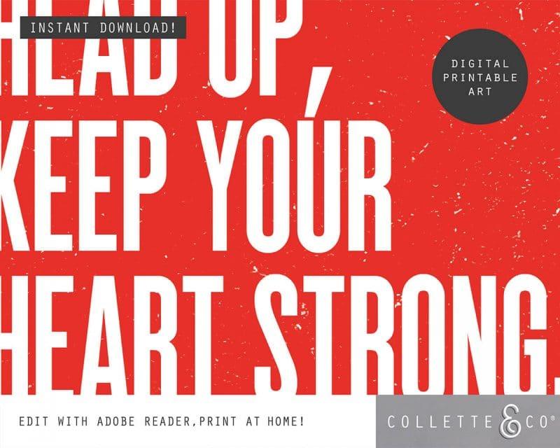 Printable Wall Art Editable Song Lyrics Red Collette and Co 3