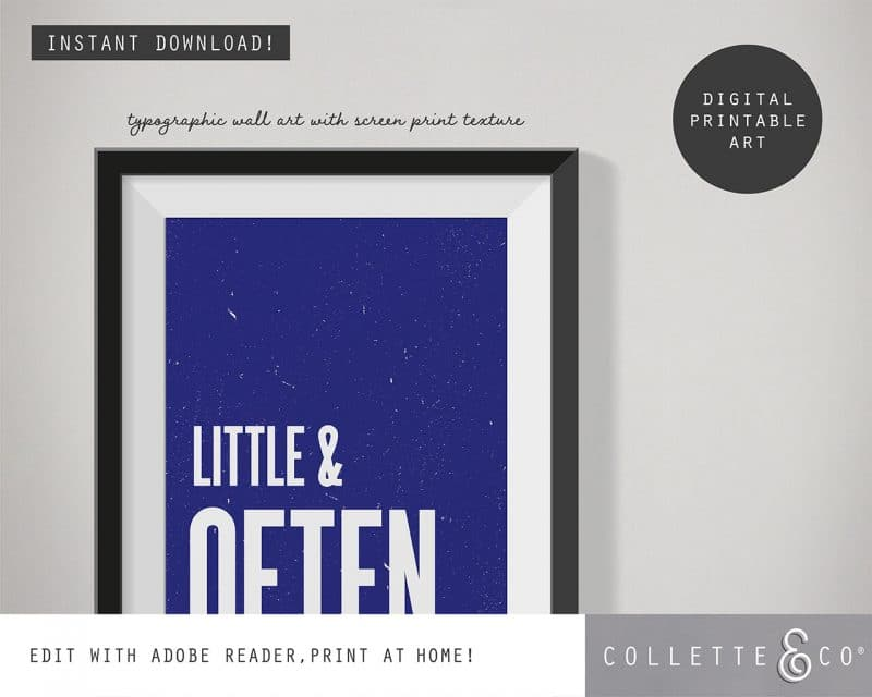 Printable Wall Art Little Often Blue Collette and Co 2