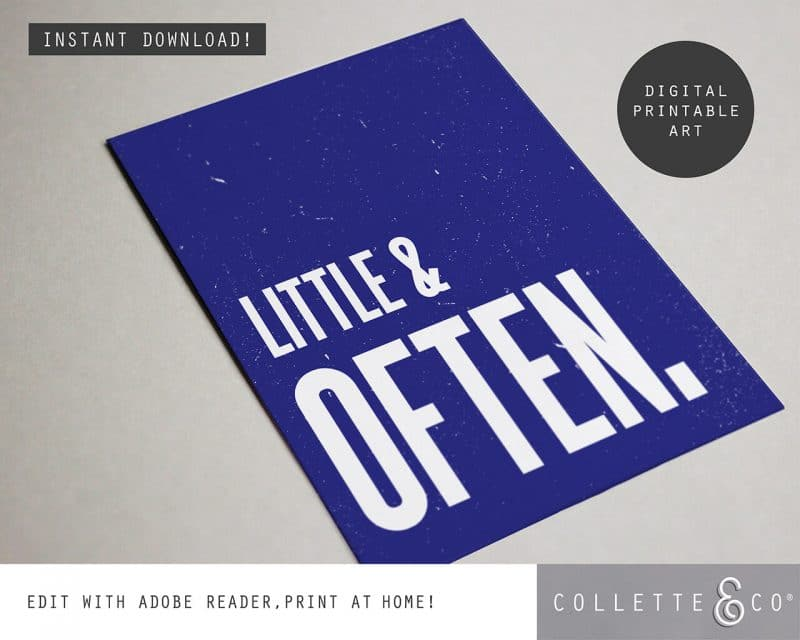 Printable Wall Art Little Often Blue Collette and Co 4