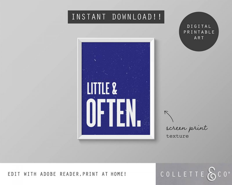 Printable Wall Art Little Often Blue Collette and Co 5