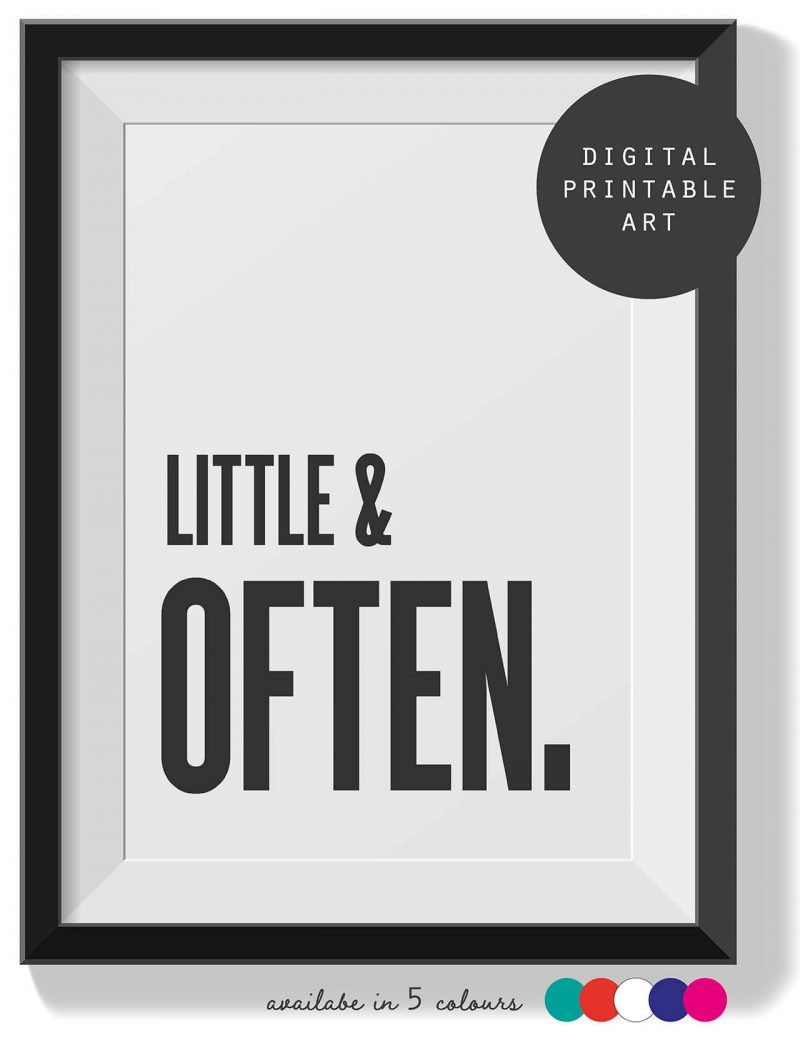 Printable Wall Art Little Often Collette and Co 1