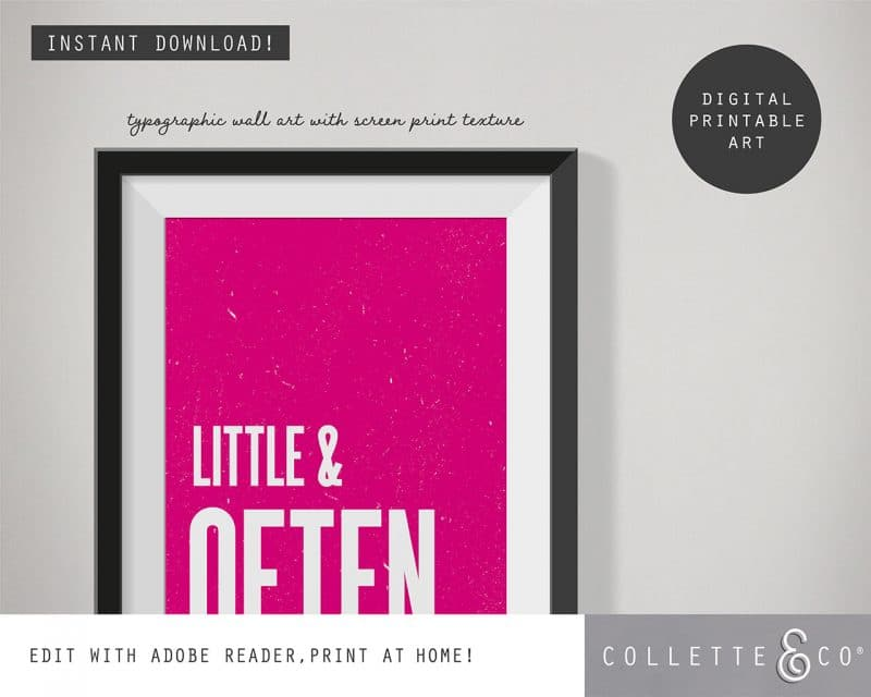 Printable Wall Art Little Often Pink Collette and Co 2