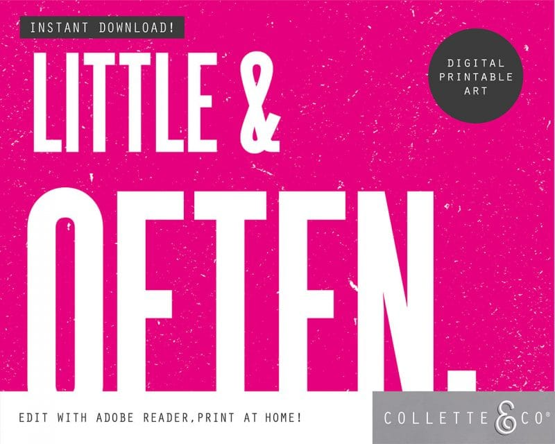 Printable Wall Art Little Often Pink Collette and Co 3
