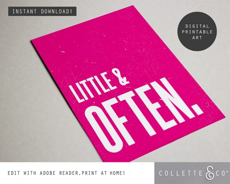 Printable Wall Art Little Often Pink Collette and Co 4