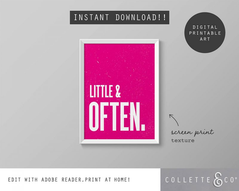 Printable Wall Art Little Often Pink Collette and Co 5