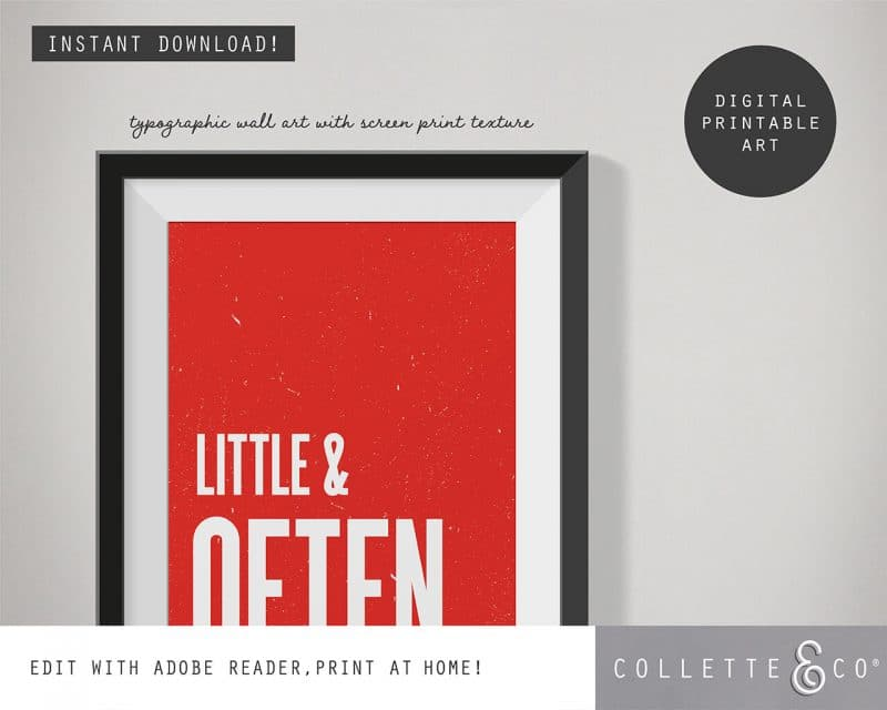 Printable Wall Art Little Often Red Collette and Co 2