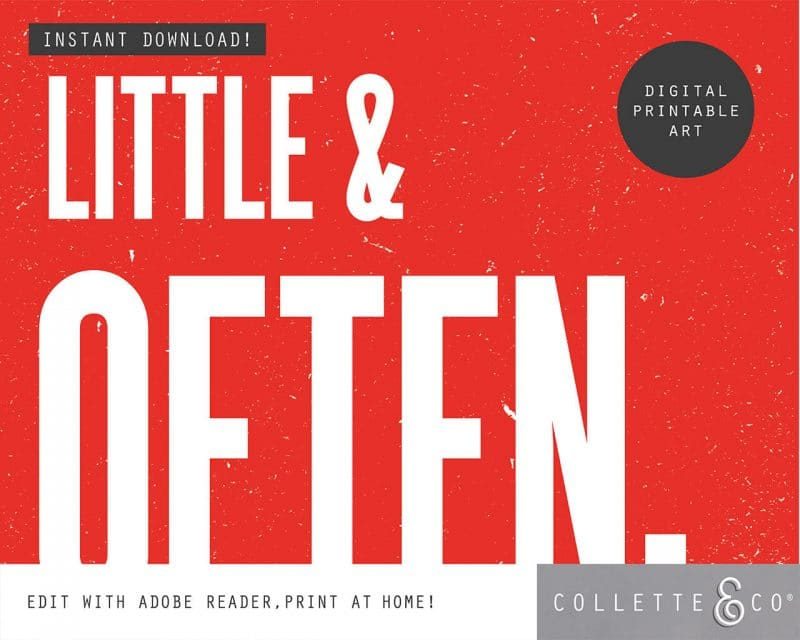 Printable Wall Art Little Often Red Collette and Co 3