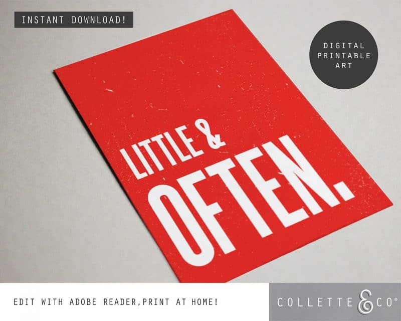 Printable Wall Art Little Often Red Collette and Co 4