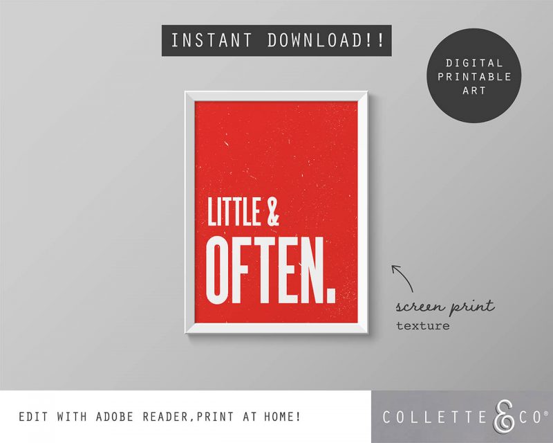 Printable Wall Art Little Often Red Collette and Co 5