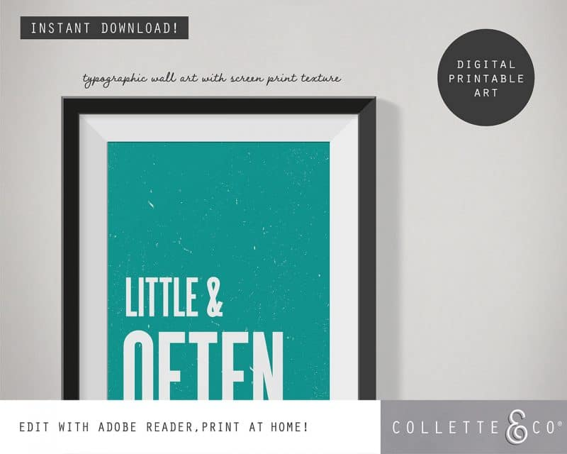 Printable Wall Art Little Often Teal Collette and Co 2