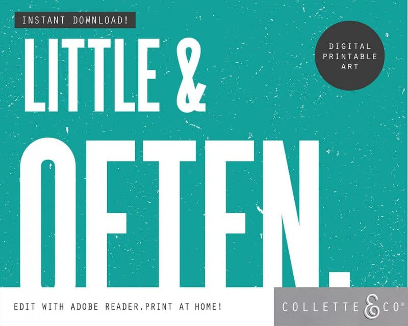 Printable Wall Art Little Often Teal Collette and Co 3