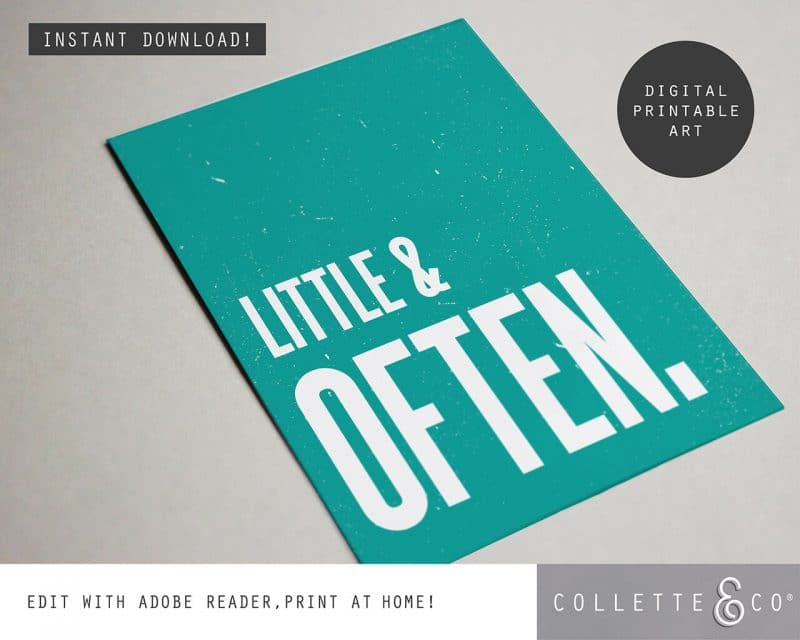 Printable Wall Art Little Often Teal Collette and Co 4