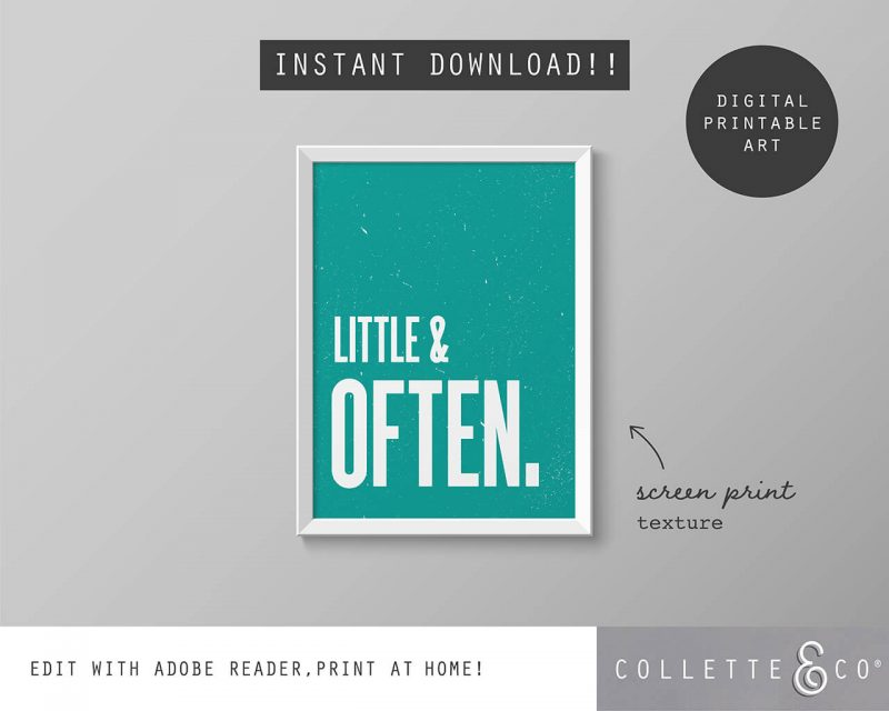 Printable Wall Art Little Often Teal Collette and Co 5