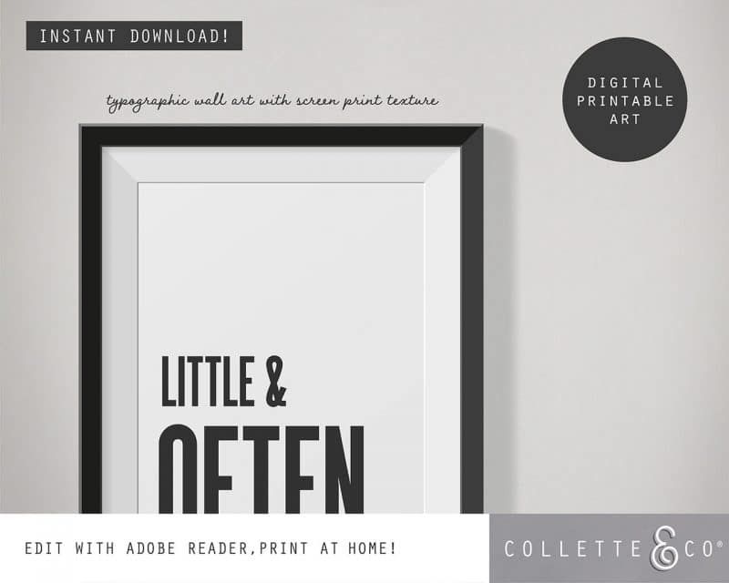 Printable Wall Art Little Often White Collette and Co 2