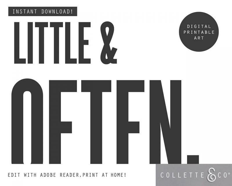 Printable Wall Art Little Often White Collette and Co 3
