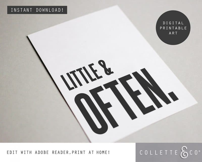 Printable Wall Art Little Often White Collette and Co 4