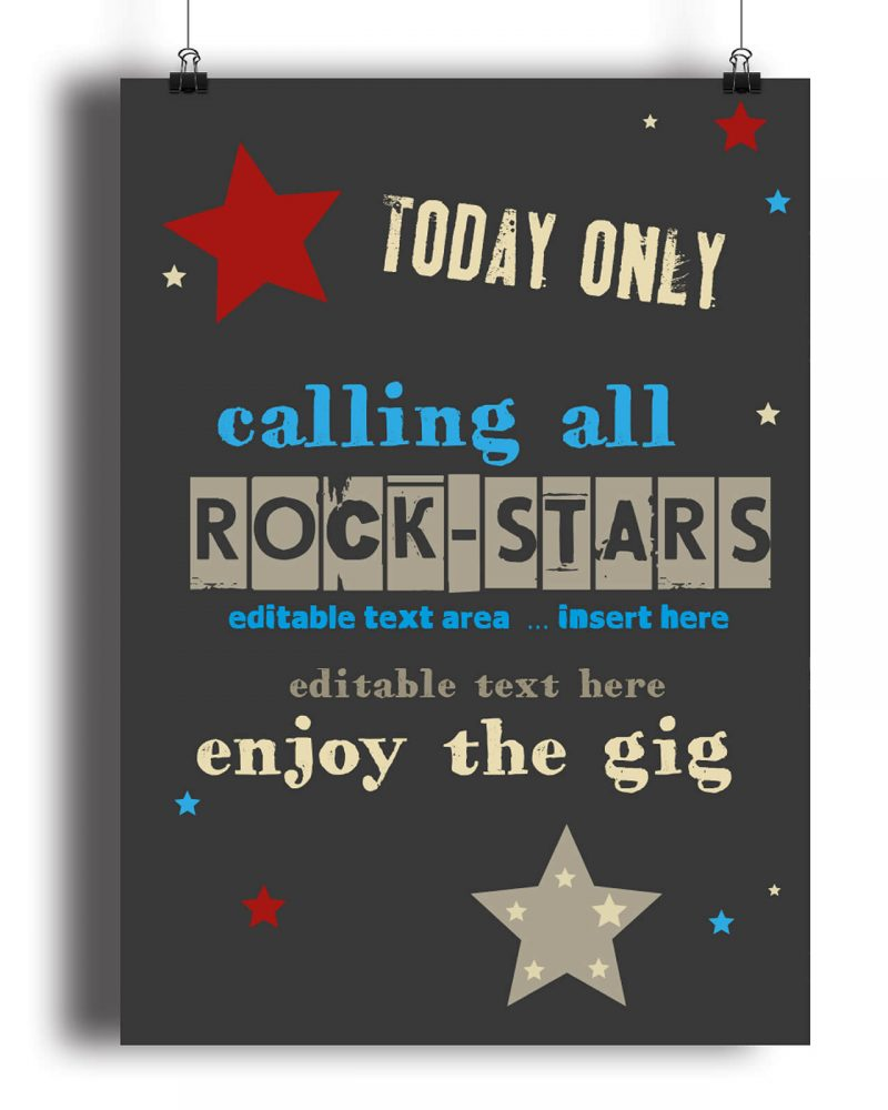 kids rockstar party printables Collette and Co 7