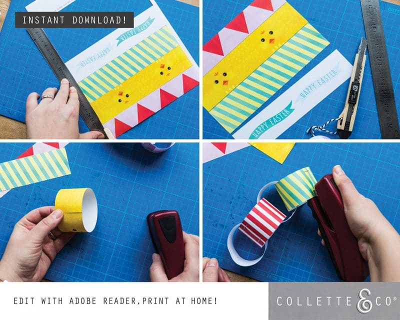2. EASTER paperchains PV 3 how to1 Easter Printables Bundle Collette and Co