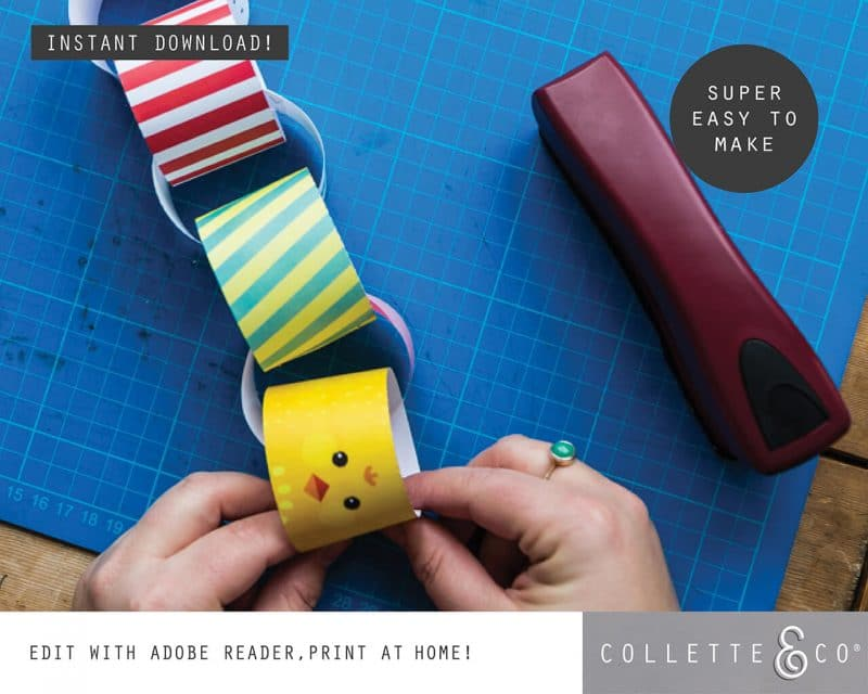 2. EASTER paperchains PV 3 how to2 Easter Printables Bundle Collette and Co