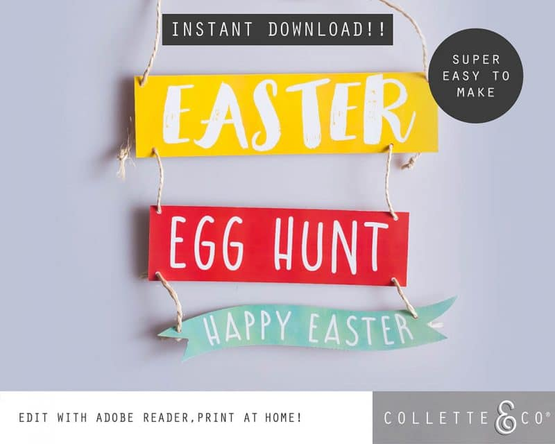 3. EASTER huntsigns PV 1 cover page Easter Printables Bundle Collette and Co