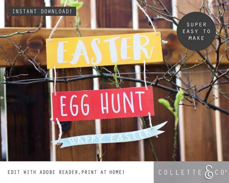 3. EASTER huntsigns PV 2 visual 2 Easter Printables Bundle Collette and Co