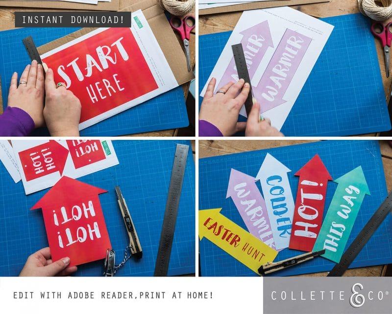 4. EASTER huntsigns ARROWS PV 3 how to1 Easter Printables Bundle Collette and Co