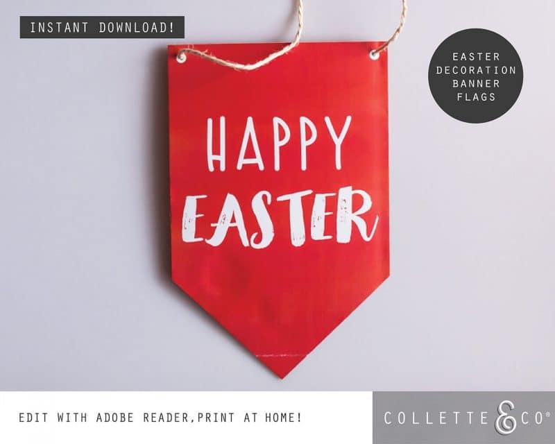 5. EASTER Banner Flag PV 2 visual Easter Printables Bundle Collette and Co