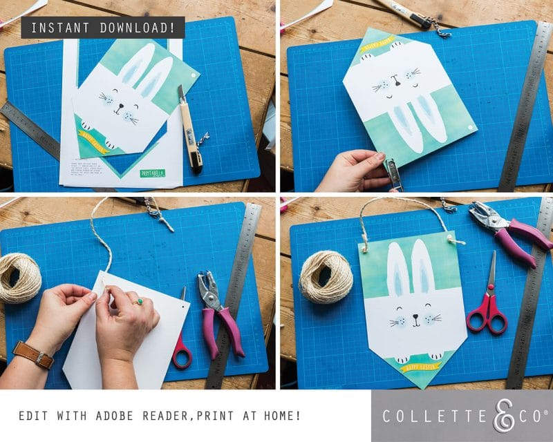 5. EASTER Banner Flag PV 4 how to1 Easter Printables Bundle Collette and Co