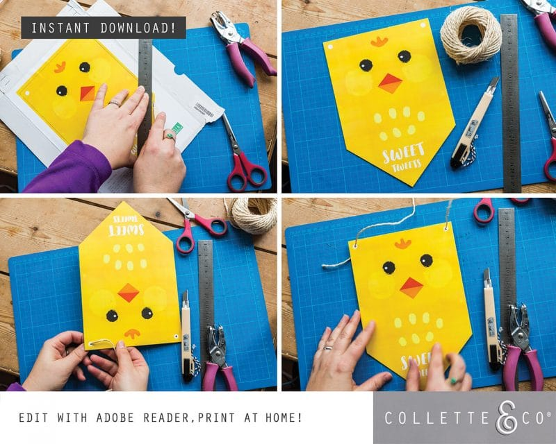 5. EASTER Banner Flag PV 6 how to3 Easter Printables Bundle Collette and Co