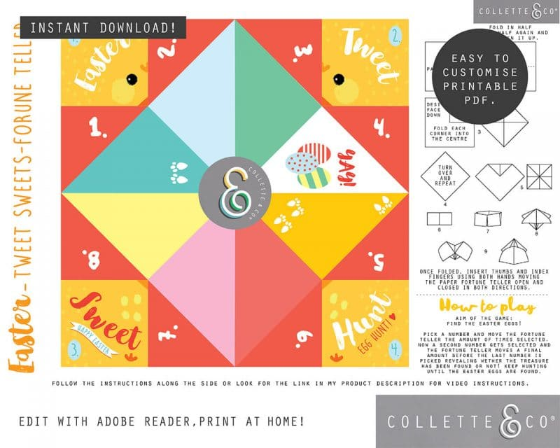 7. EASTER fortune teller tweets PV 3 vsual Easter Printables Bundle Collette and Co