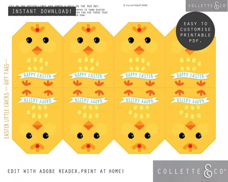 8. EASTER WRAP littleChick PV 3 visual Easter Printables Bundle Collette and Co
