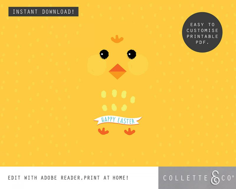 8. EASTER WRAP littleChick PV 4 visual Easter Printables Bundle Collette and Co