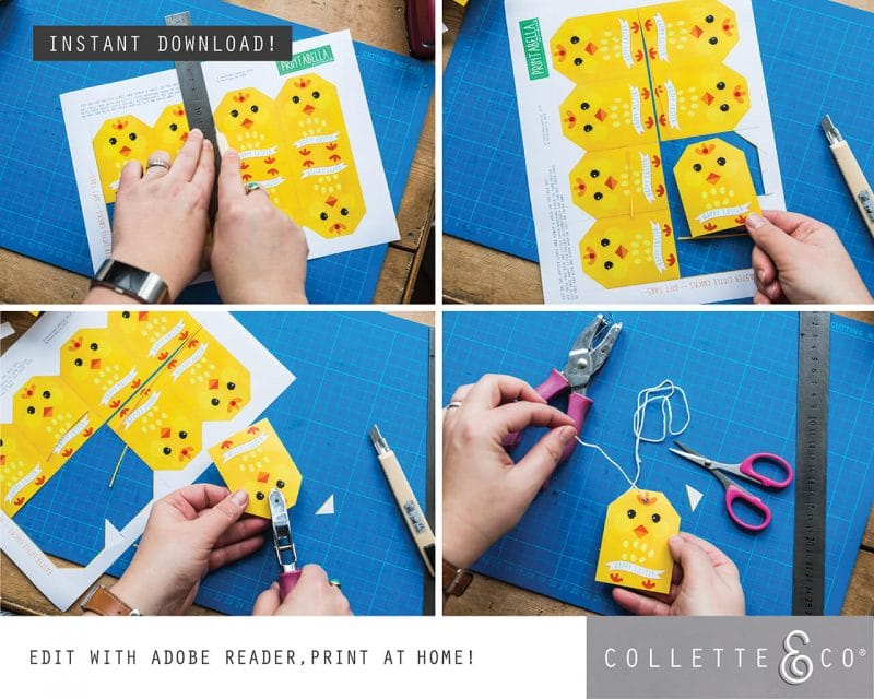 8. EASTER WRAP littleChick PV 5 how to 1 Easter Printables Bundle Collette and Co