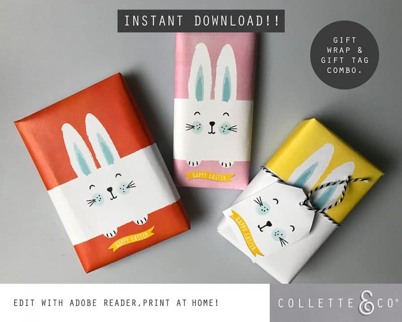 9. EASTER WRAP bunny PV 1 bundle cover pageBunny Wrapping Paper Easter Gift Wrap Bunny Collette and CoBunny Wrapping Paper Easter Gift Wrap Bunny Collette and Co