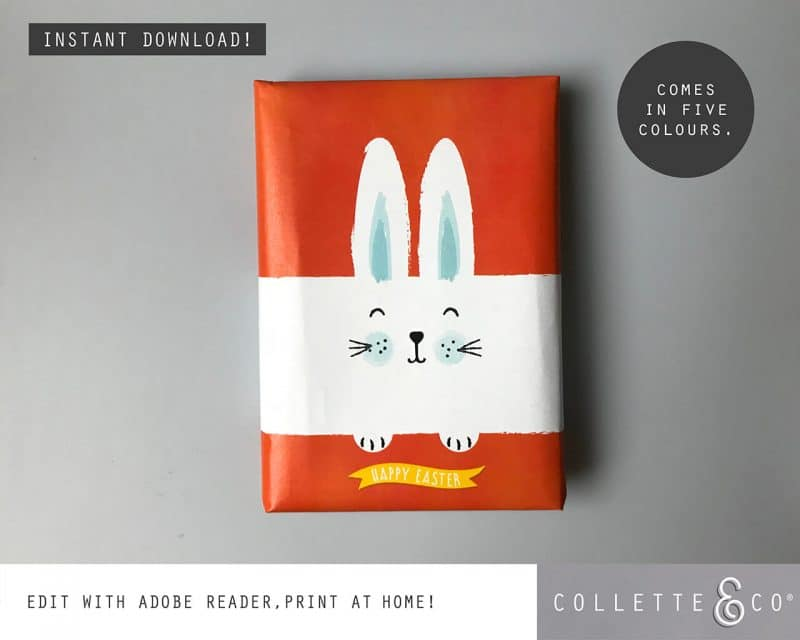 9. EASTER WRAP bunny PV 3 visual Easter Printables Bundle Collette and Co