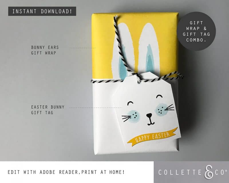 9. EASTER WRAP bunny PV 5 combo 1Bunny Wrapping Paper Easter Gift Wrap Bunny Collette and CoBunny Wrapping Paper Easter Gift Wrap Bunny Collette and Co