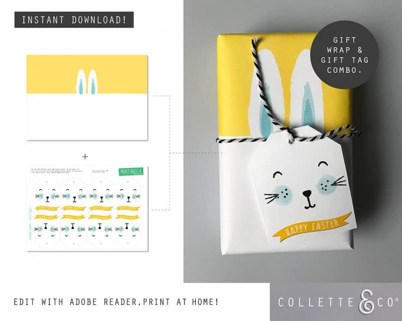 9. EASTER WRAP bunny PV 6 combo 2 Easter Printables Bundle Collette and Co