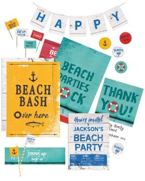 Beach Party Printables FULL Pack Editable Collette and Co 17
