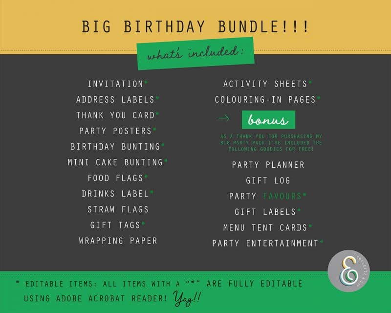 Beach Party Printables FULL Pack Editable Collette and Co 25