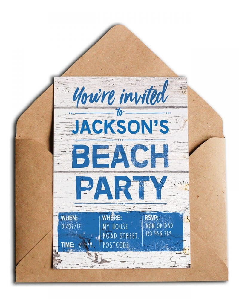 Beach Party Stationery Bundle Editable Collette and Co 3
